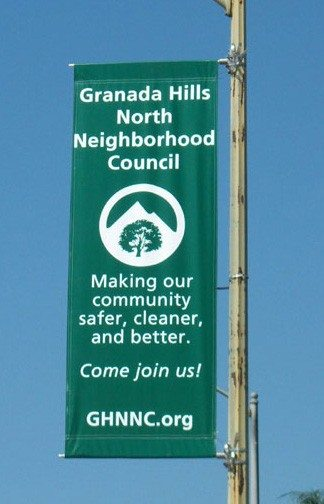 Granada Hills North Neighborhood Council Street Banners