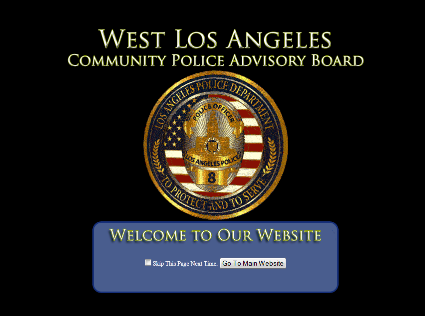 West Los Angeles Community Police Advisory Board