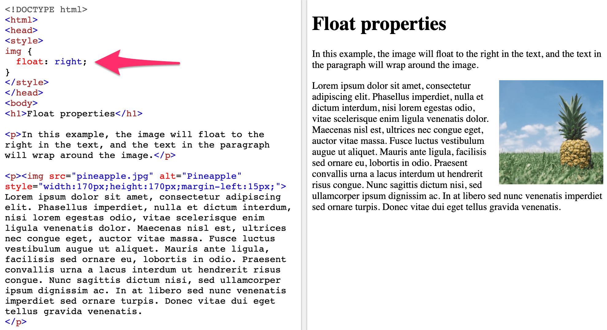 Float-Properties